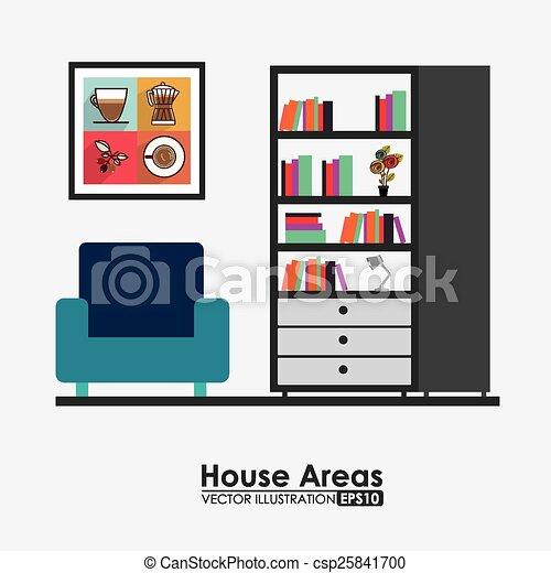 vector clip art de muebles dise o vector ilustraci n