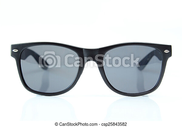 Sunglasses isolated on white background - csp25843582
