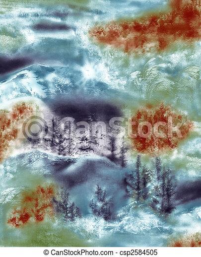 landscape painting - csp2584505