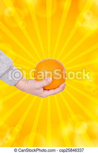 Orange and hand