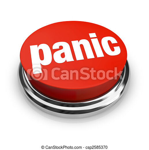 Panic - Red Button - csp2585370