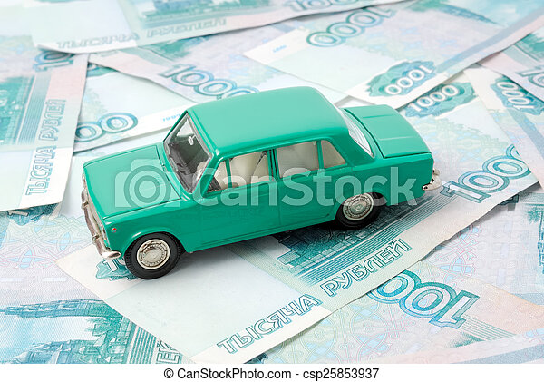 The old car and money - csp25853937