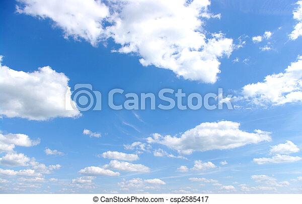 藍色, 天空 - csp2585417