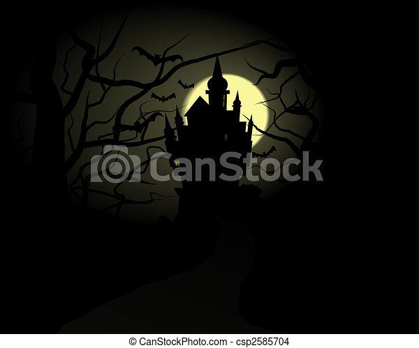Halloween Castle - csp2585704