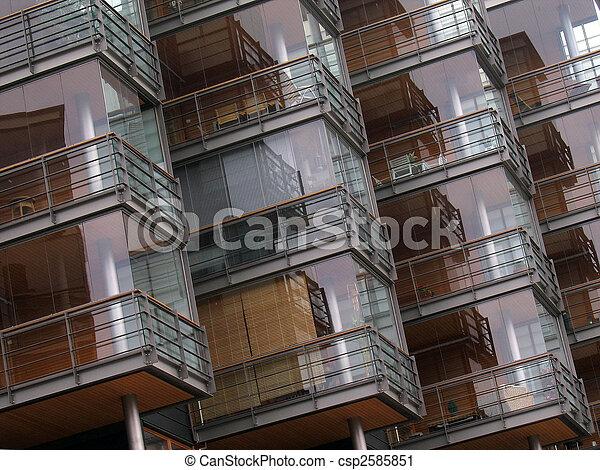 Facade fragment of modern residential house - csp2585851