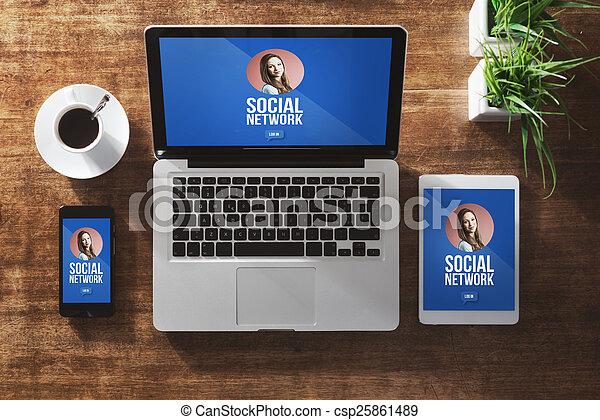 Girl social network profile
