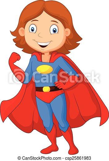Vecteur de poser femme h ros dessin anim super vecteur csp25861983 recherchez des - Image super heros fille ...