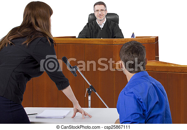 Courtroom Trial - csp25867111