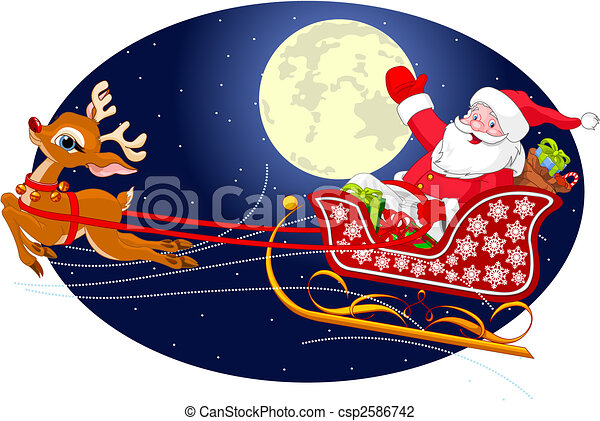 Santa's Sled - csp2586742