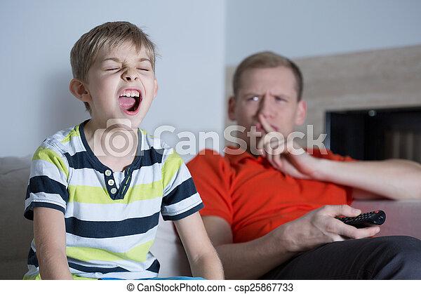 Screaming son