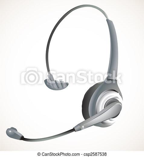 Call center headset - csp2587538