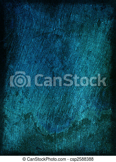 Background blue rough wood texture with scratches with space for text or image - csp2588388