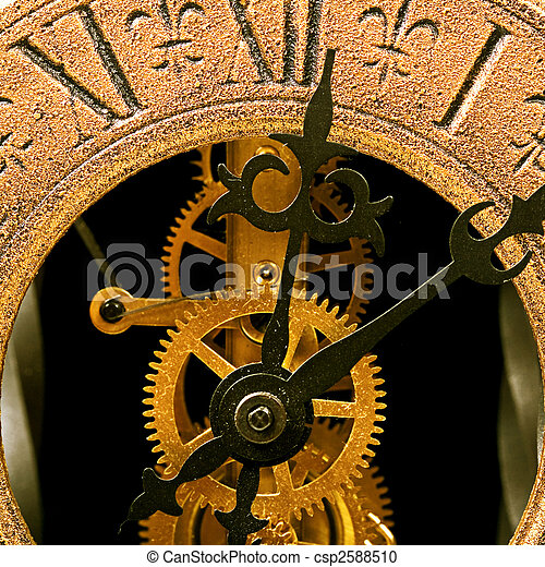 Old clock close up view - csp2588510