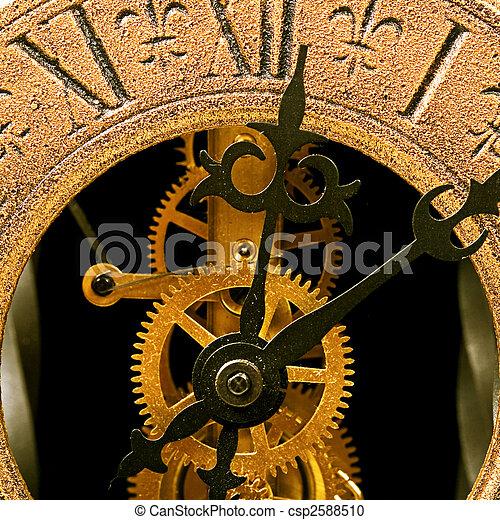 終わり, 時計, 古い, の上, 光景 - csp2588510