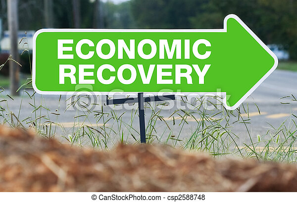 Economic Recovery Sign - csp2588748
