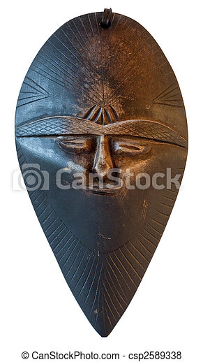 African traditional mask - Morocco - csp2589338