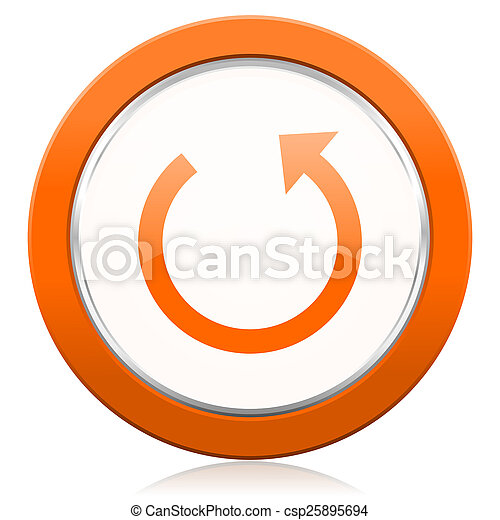 橙,  reload, 旋轉, 圖象, 簽署 - csp25895694