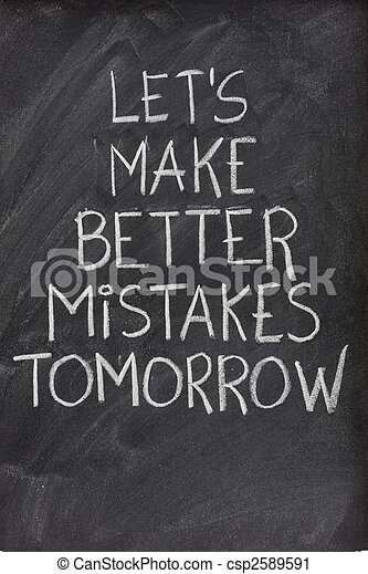let's make better mistakes tomorrow on blackboard - csp2589591