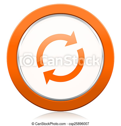 橙,  reload, 圖象, 刷新, 簽署 - csp25896007
