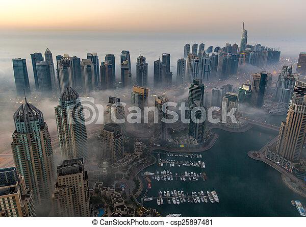 foggy weather Dubai Marina