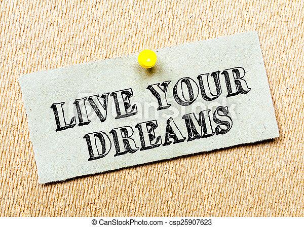 Live Your Dreams Message
