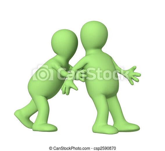 Puppet, pushing partner  - csp2590870