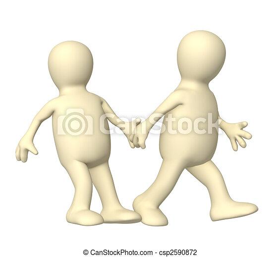 Puppet, pushing partner  - csp2590872