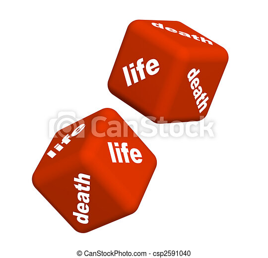 Life and death - csp2591040