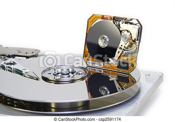 Hard disks with diameter of plates 3.5 and 1 inch - csp2591174
