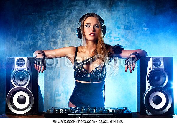 Woman dj