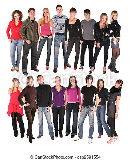 sixteen young people group - csp2591554