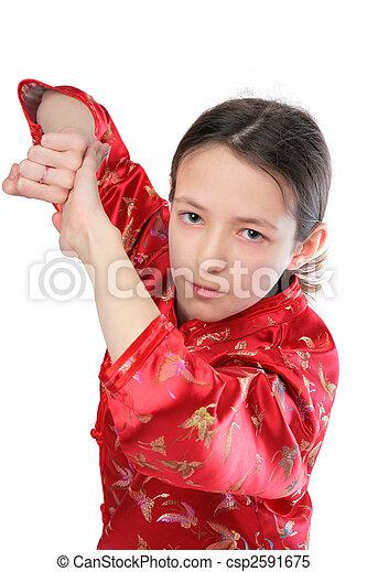 Kung fu girl blow - csp2591675