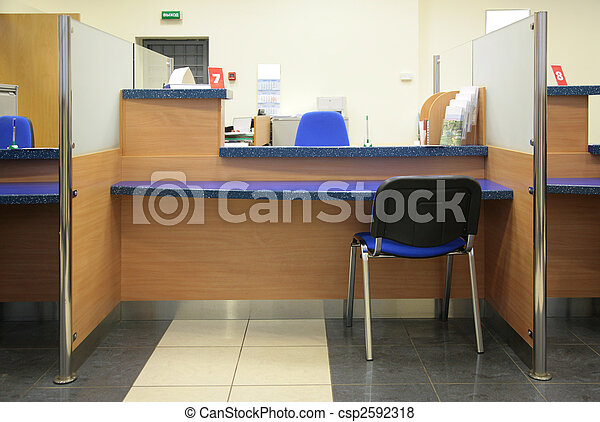 bank desk - csp2592318