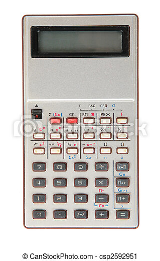 old dirty obsolete calculator - csp2592951