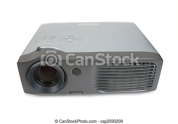 old dirty Multimedia projector - csp2593209