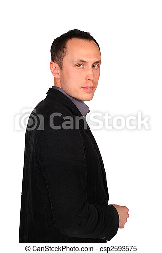 Young businessman sideview - csp2593575