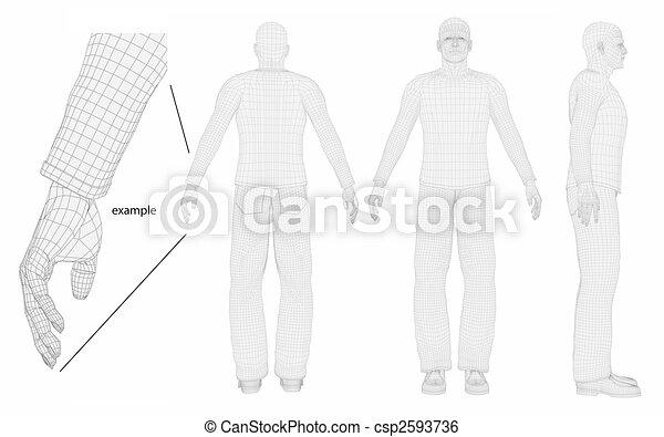 wire man body - csp2593736
