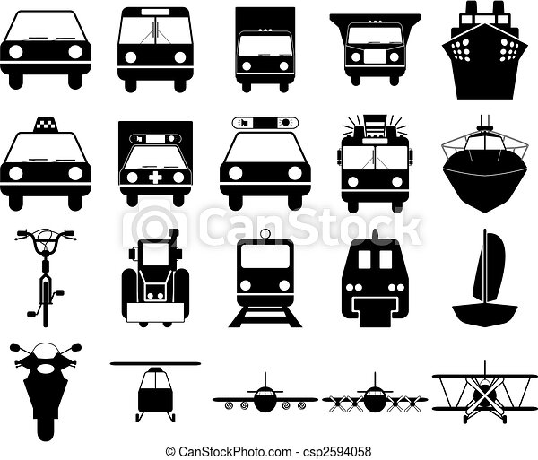 transportation icons set - csp2594058