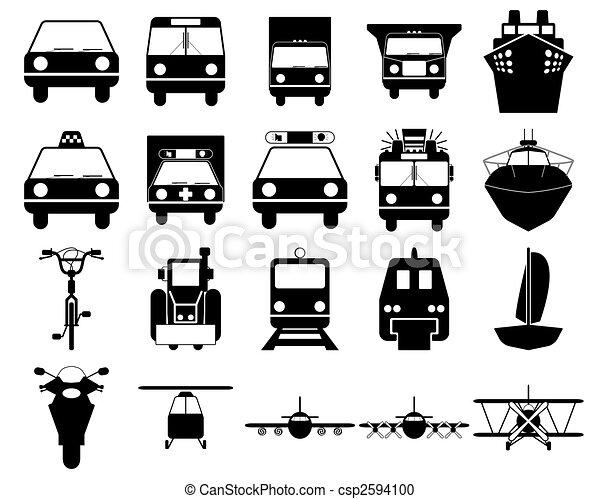 transportation icons set - csp2594100