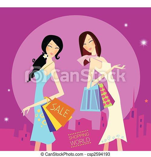 Shopping duo - csp2594193