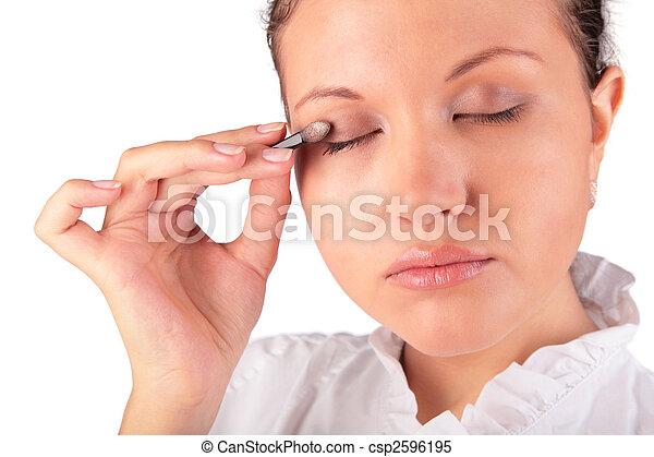 make up. woman eyelid - csp2596195