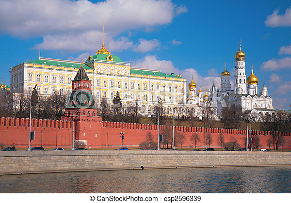 Kremlin palace and churches - csp2596339