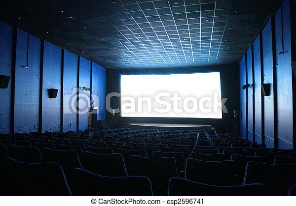 Empty hall of cinema - csp2596741