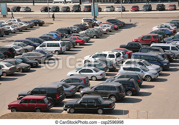 automobiles on parking - csp2596998