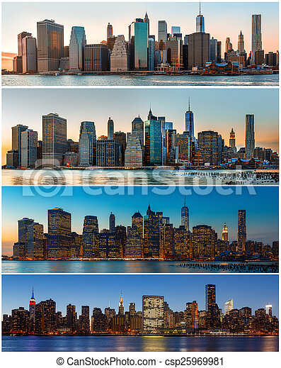New York City skyline panorama - csp25969981