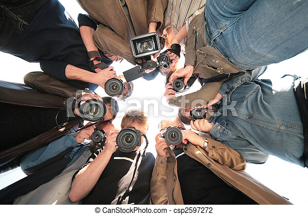 paparazzi on object - csp2597272