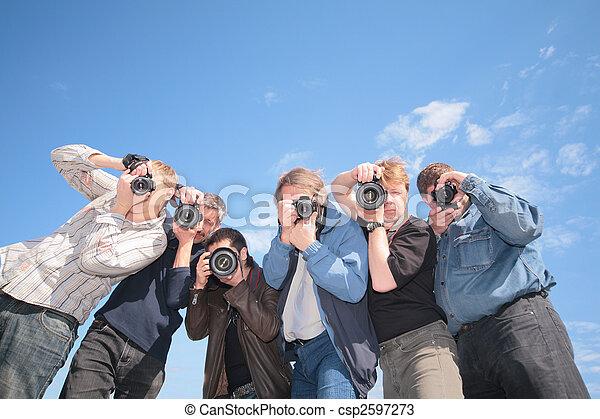 six photographers - csp2597273
