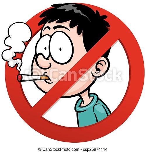 El estado malo después de que ha dejado a fumar