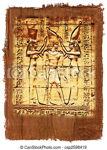 Papyrus of egyptian history - csp2598419