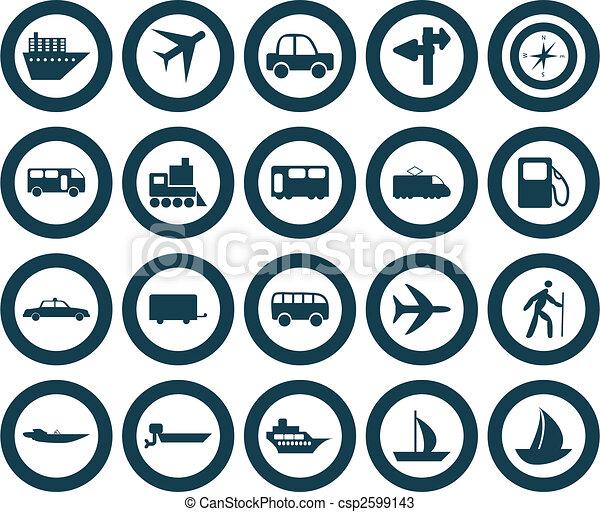 transportation icons set - csp2599143